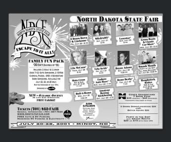 Black and White Newsprint Ad