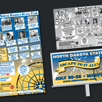 North Dakota State Fair Promotions - Posters, Print Ads, Billboards