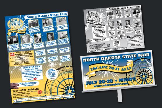 North Dakota State Fair Promotions - Posters, Print Ads, Billboards